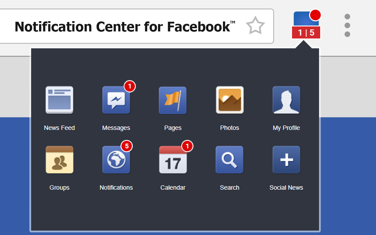 Notification Center for Facebook with an Chrome Extension