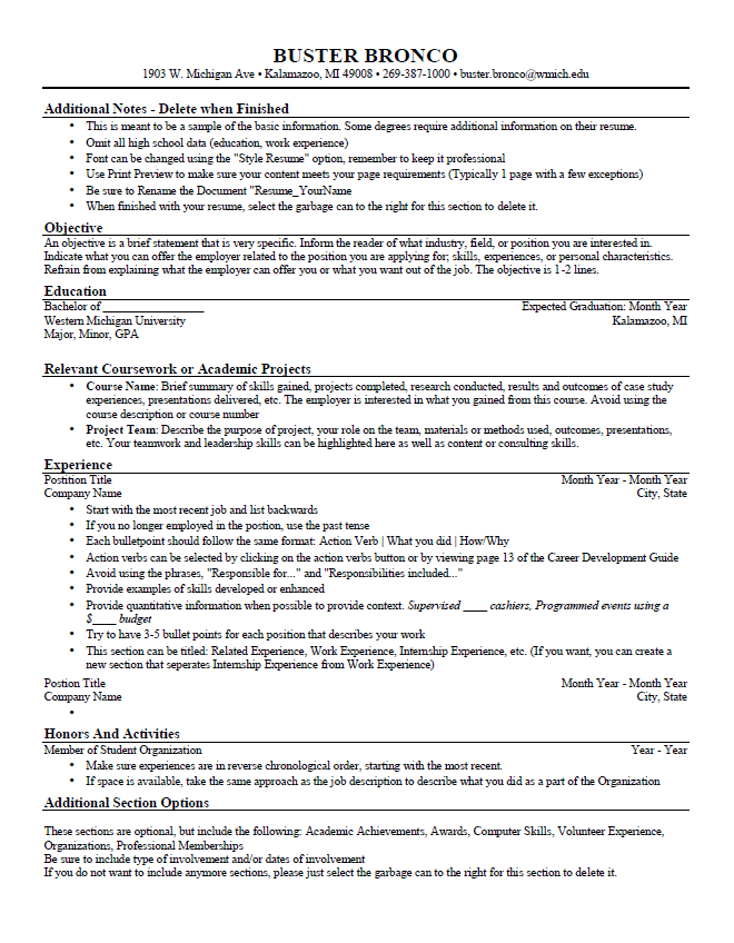 general resume template leads to interview general objective for resume samples