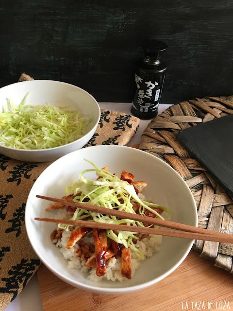 receta-sencilla-de-arroz-blanco-y-pollo-con-teriyaki