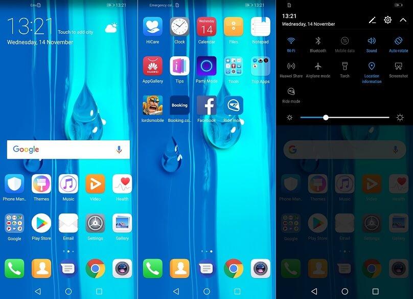 Huawei Y9 2019 Interface