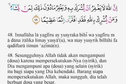 Tajwid Surat An Nisa Ayat 48