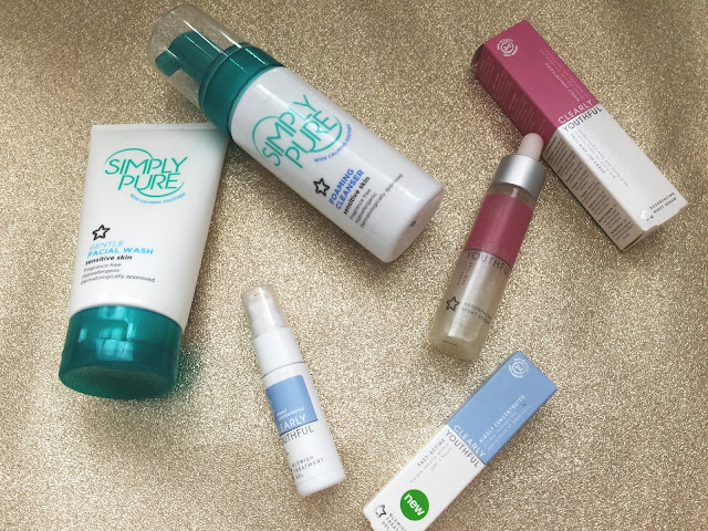 simply pure, skincare, superdrug, clearly youthful, spots, clear skin, drugstore,