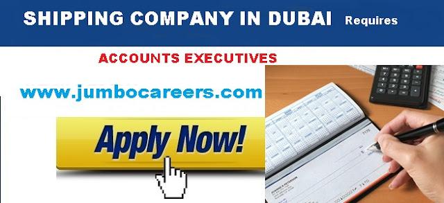Shipping company jobs in Dubai 2018. Accounts executive salary in Dubai 2018.
