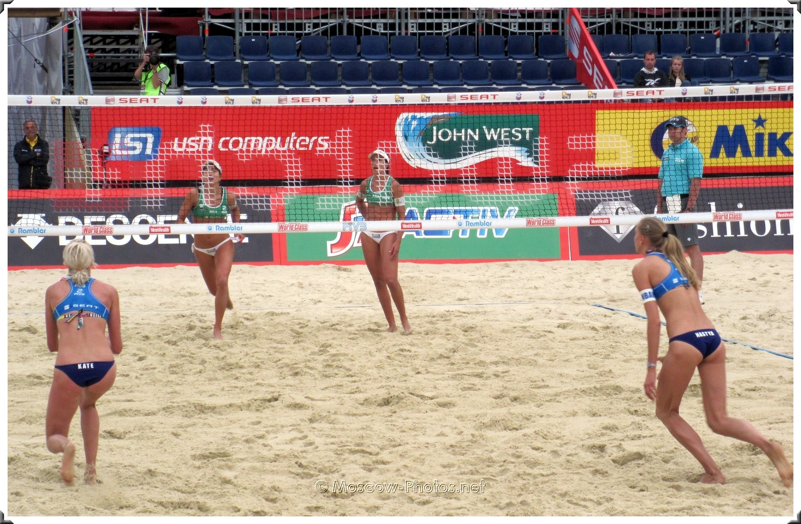 Russian Beach Volleyball Team vs Brazilian Beach Volleyball Team