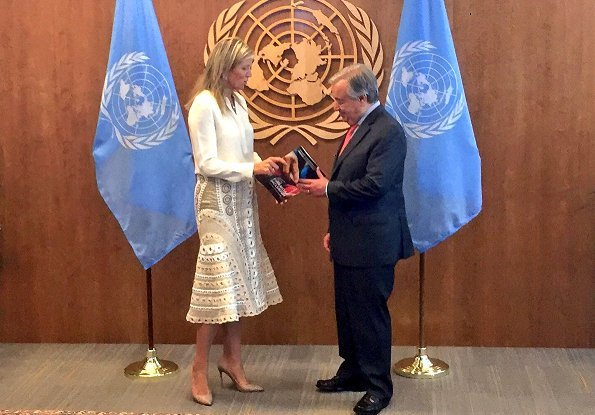 Queen Maxima met with United Nations Secretary-General Antonio Guterres