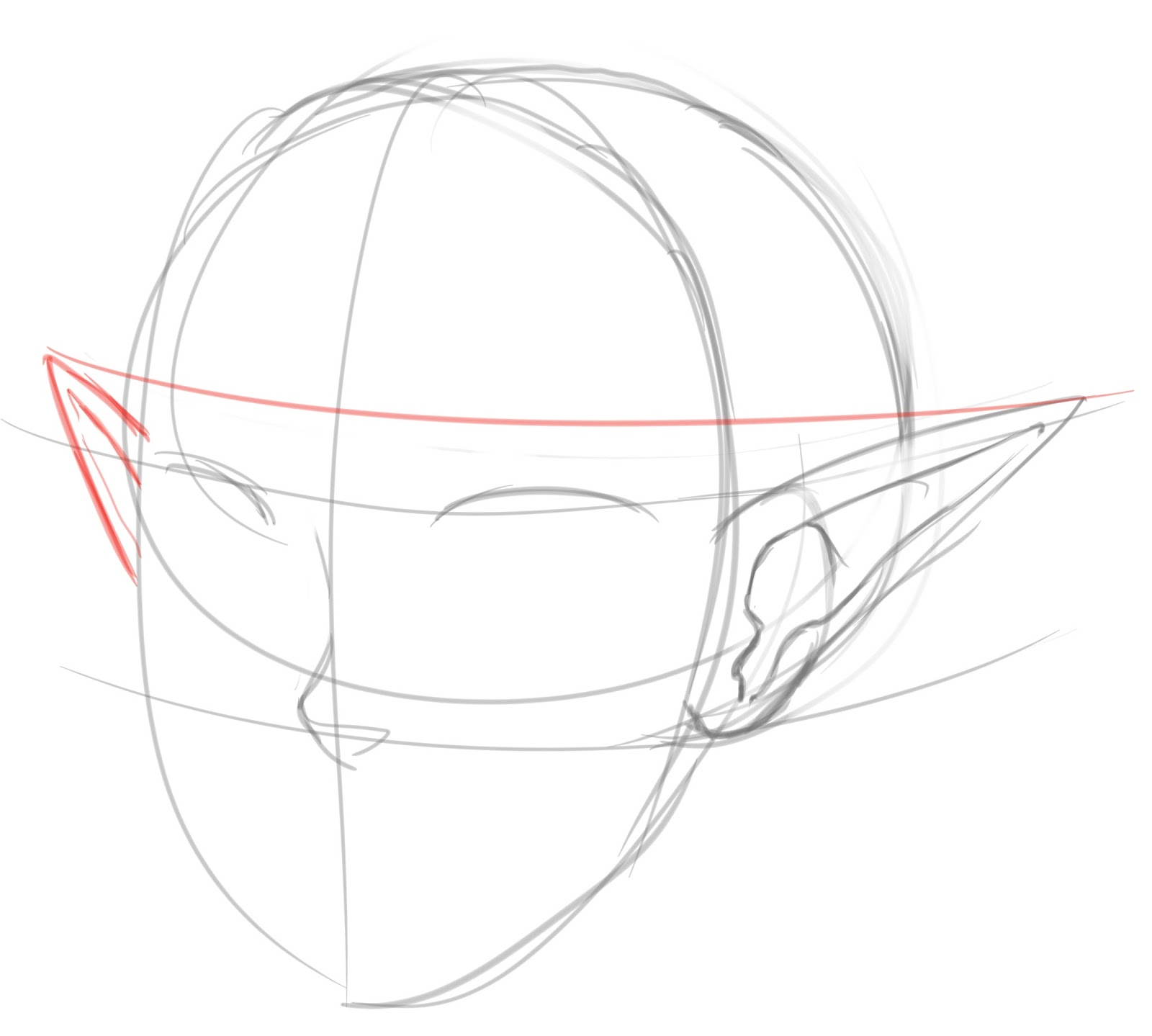 How To Draw Pointed Elf Ears