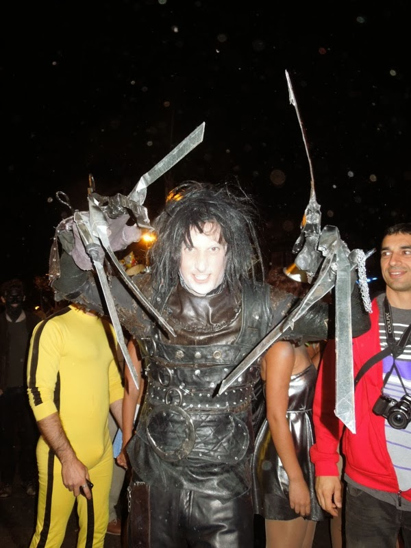 Edward Scissorhands costume West Hollywood Halloween