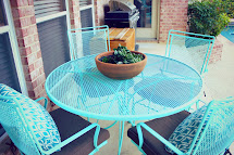 Crafty Texas Girls Painted Patio Furniture