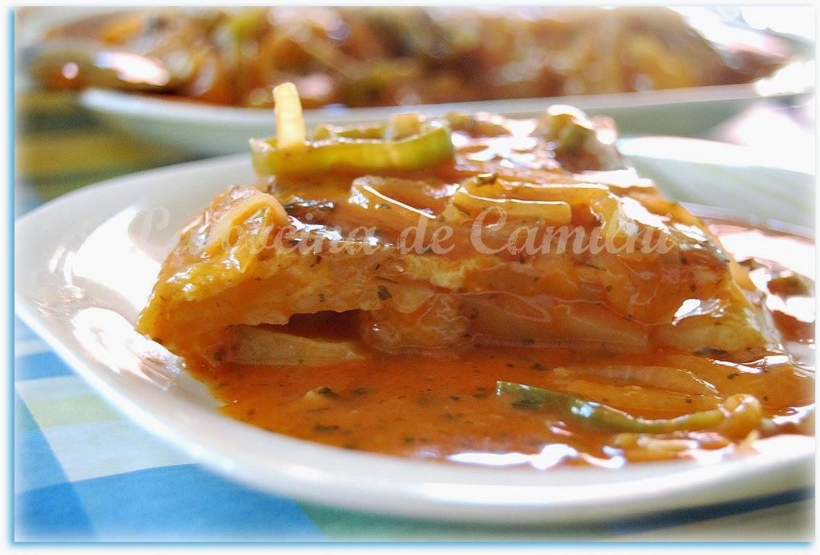 Tortilla guisada al estilo leonés (La cocina de Camilni)