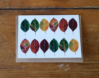 beech leaf card by Alice Draws The Line