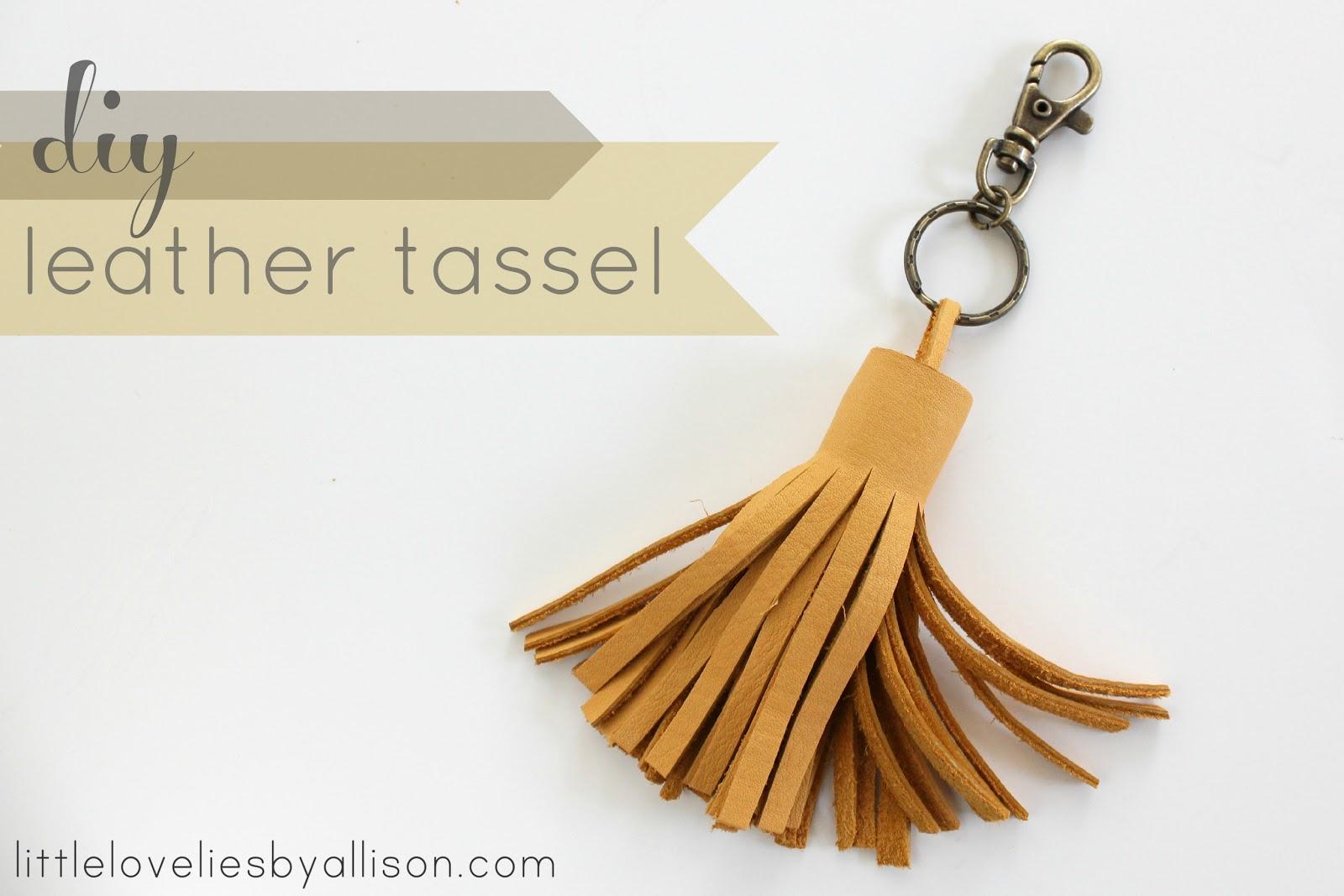 5b7dbbc7d1 little lovelies  tutorial  diy leather tassel