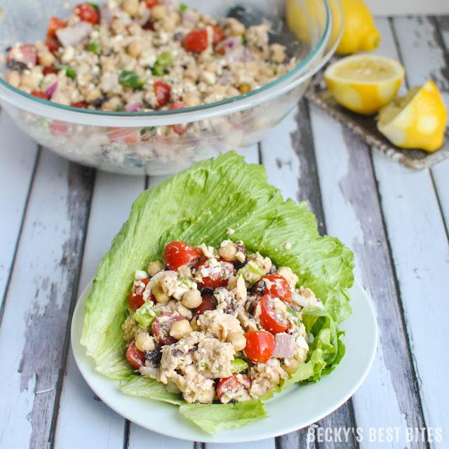 Best Mediterranean Tuna Lettuce Wraps Recipe