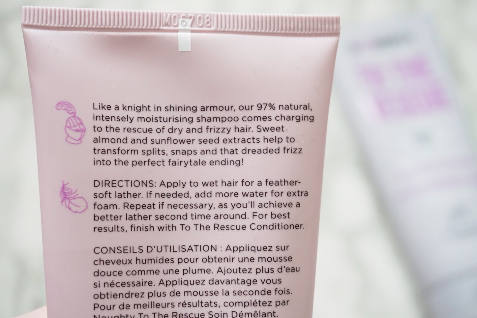 Noughty Hair To The Rescue Shampoo and Conditioner. Ingredients List, Directions and Useful Information.