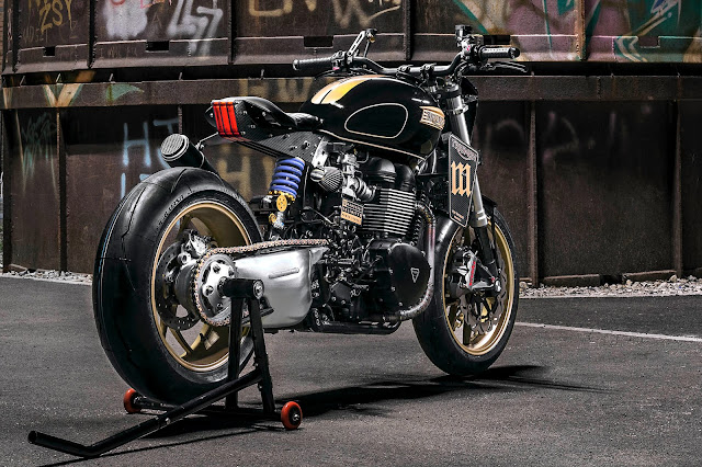 Triumph T100 By Mandrill Garage Hell Kustom