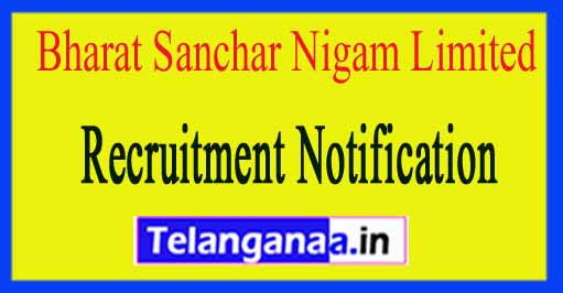 BSNL (Bharat Sanchar Nigam Limited) Recruitment Notification 2017