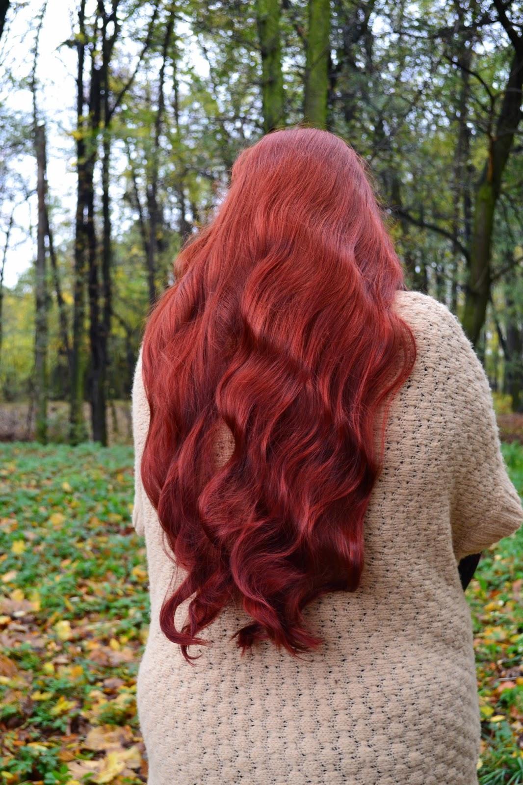 jak zafarbować włosy na czerwono?