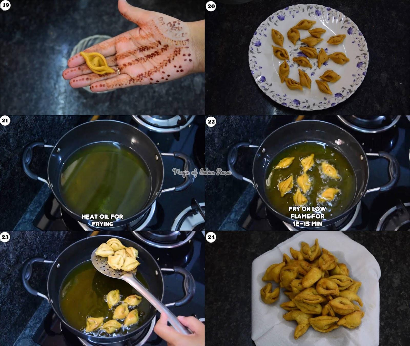 Peri Peri Masala Kaliya Mathri Recipe - कालिया की शेप की मठरी दिवाली के लिए - Priya R - Magic of Indian Rasoi