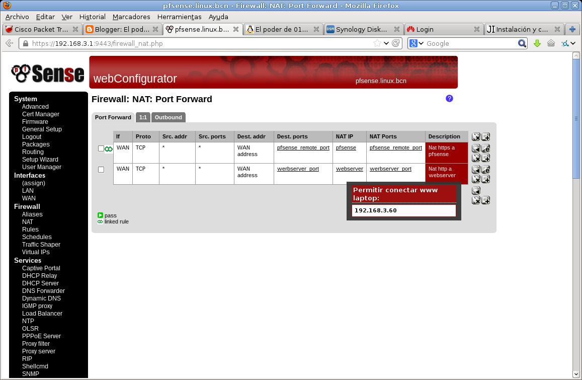 Servidor web pfsense - Australiano abierto ver en línea