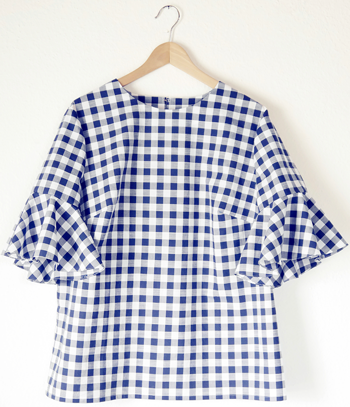 nähen, sewing, DIY, gingham, Vichykaro, bellsleeves, Glockenärmel, McCalls pattern
