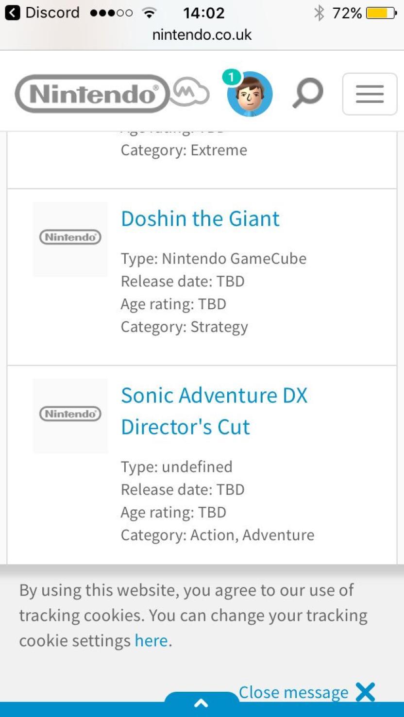 Aparecen listados títulos de Gamecube en la página de Nintendo, ¿consola virtual?