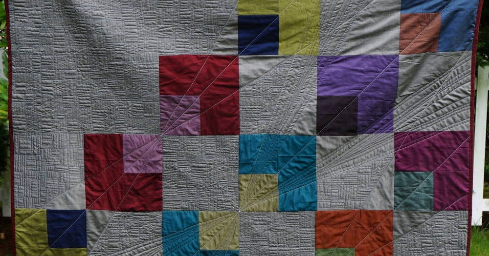 Quilty Habit Reflection Modern Quilt Tutorial For