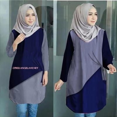 Koleksi Baju Atasan Muslim Cantik Kekinian OP102