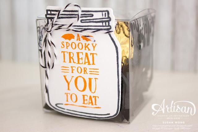 Jar of Haunts Halloween Treat Box ~ Susan Wong