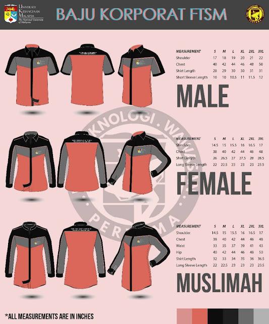 Penjualan Baju Korporat FTSM