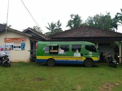 Tingkatkan Pelayanan, Disdukcapil Lampung Timur Sambangi Desa Way Areng