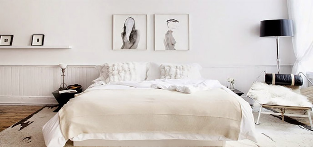 chambre blanche style scandinave