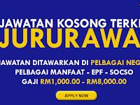 KEKOSONGAN JAWATAN SEBAGAI JURURAWAT - GAJI RM1,000.00 - RM8,000.00