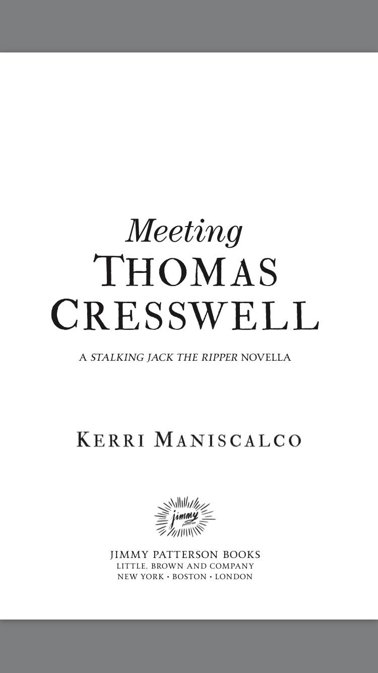 a GREAT read: Mini Review--Meeting Thomas Cresswell by