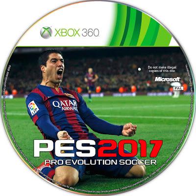 Label PES 2017 Xbox 360