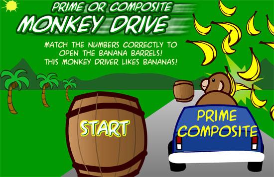Carrera de monos para recoger números primos