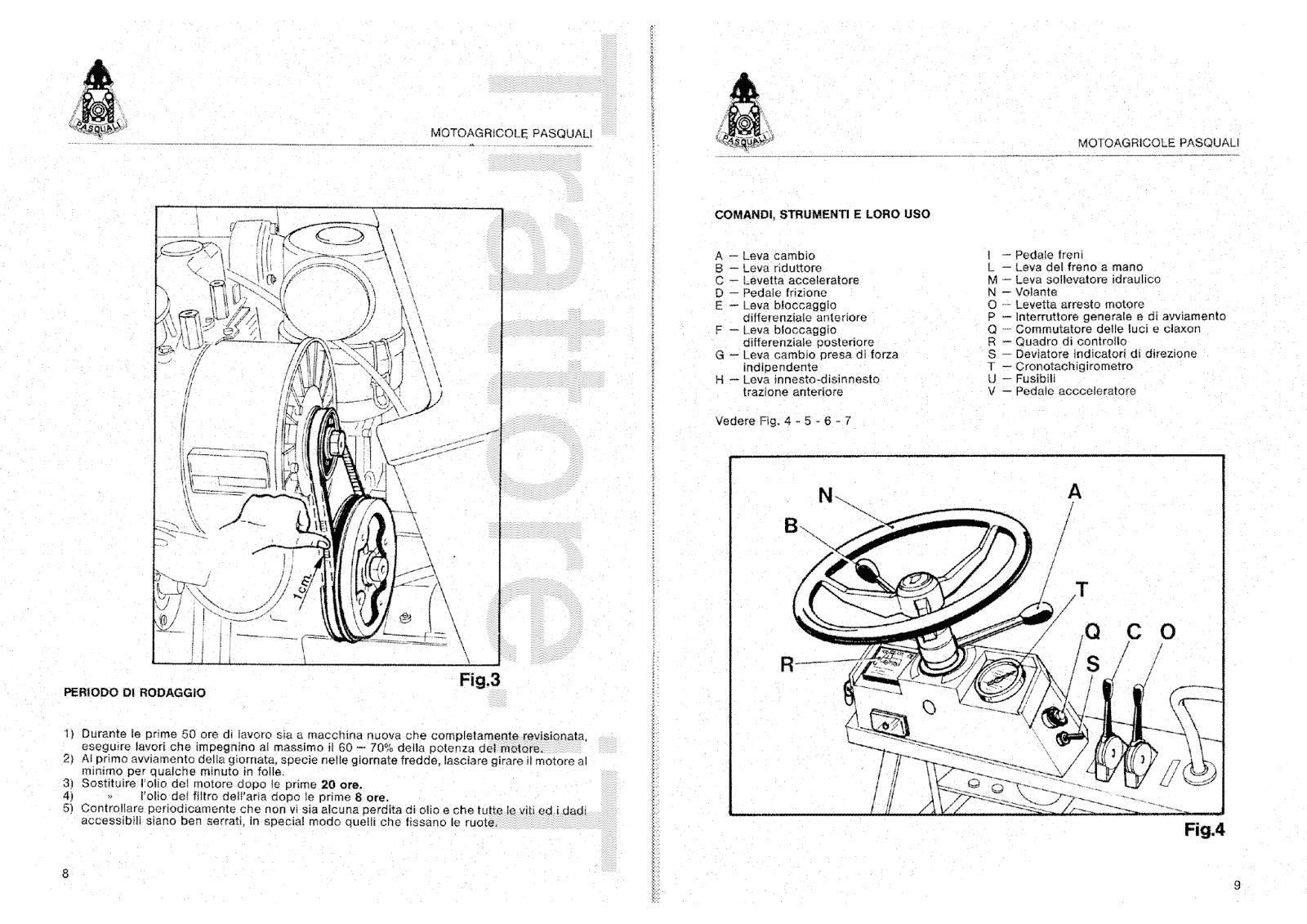 InfoTrattore.it: Motoagricola Pasquali 423 Manuale