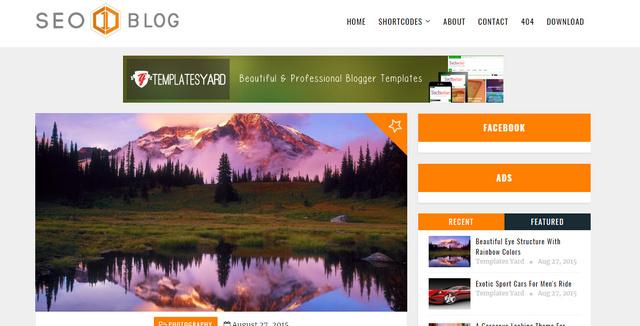 Seo Blog Responsive Blogger Templates