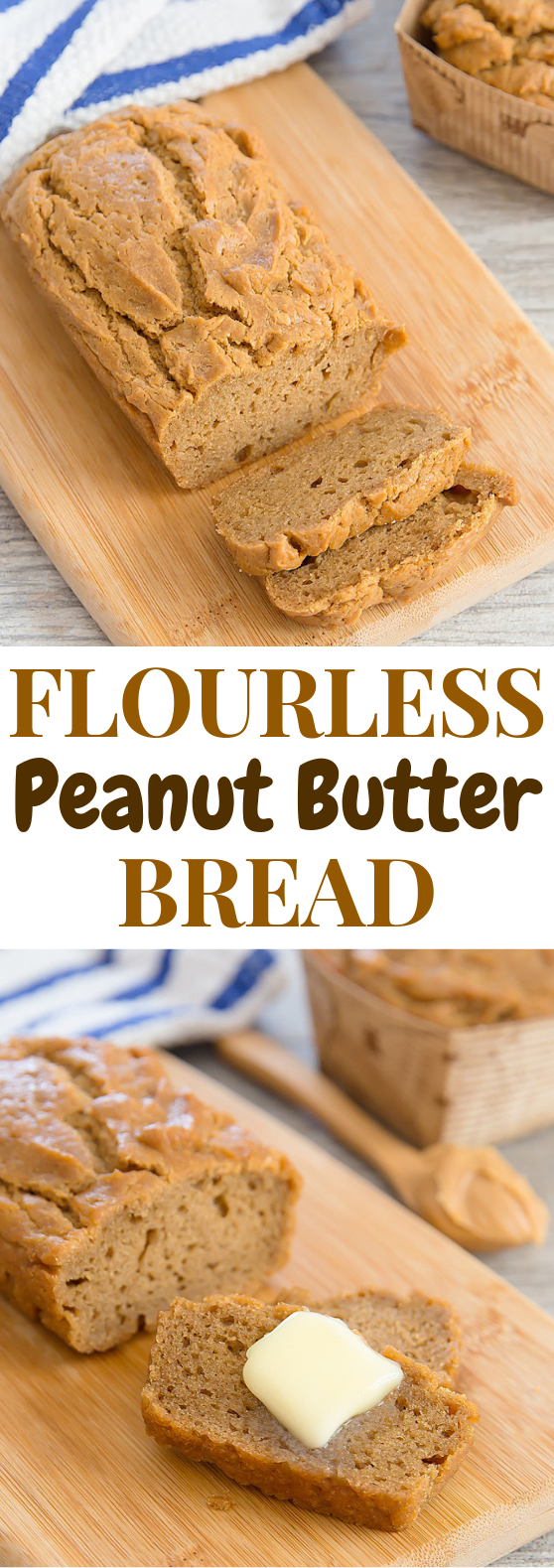 FLOURLESS PEANUT BUTTER BREAD #lowcarb #HealthyFood