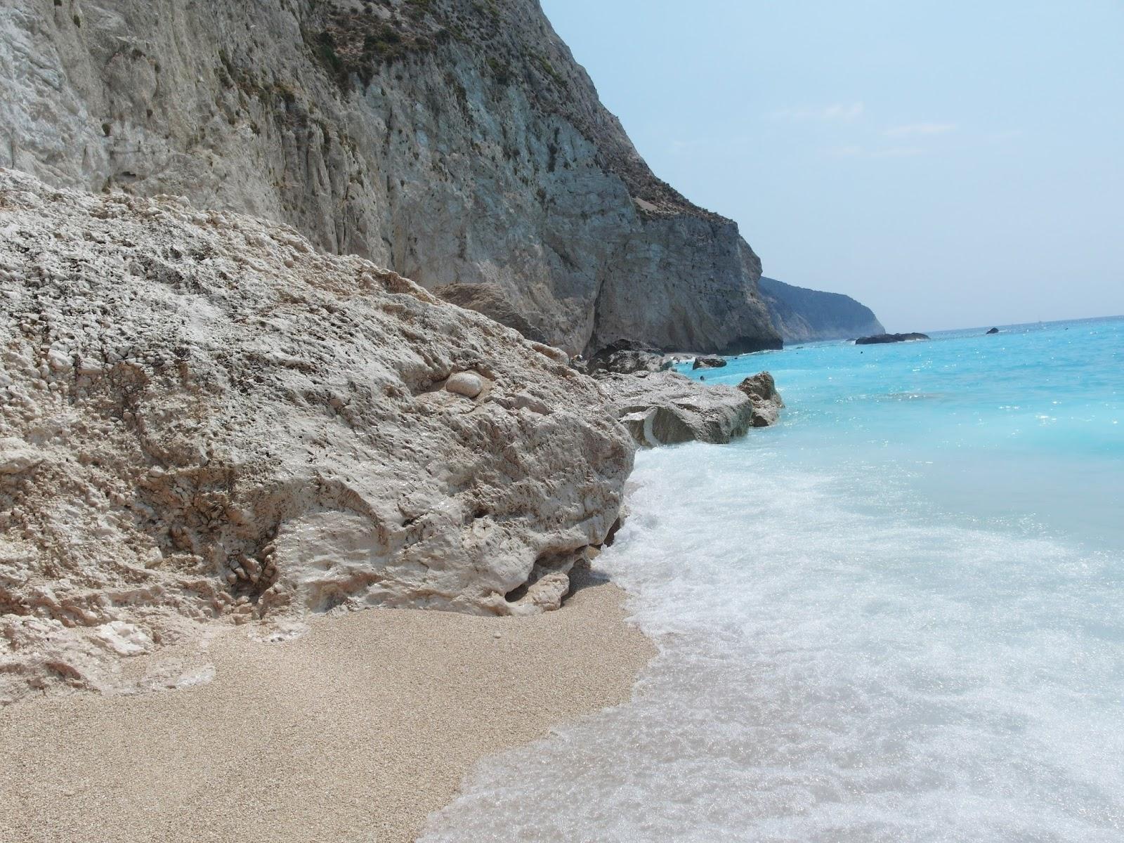 pláž Porto Katziki na ostrově Lefkáda Řecko