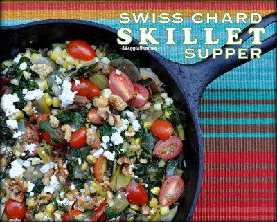 Swiss Chard Skillet Supper with Tomatoes, Corn, Fresh Dill & Feta