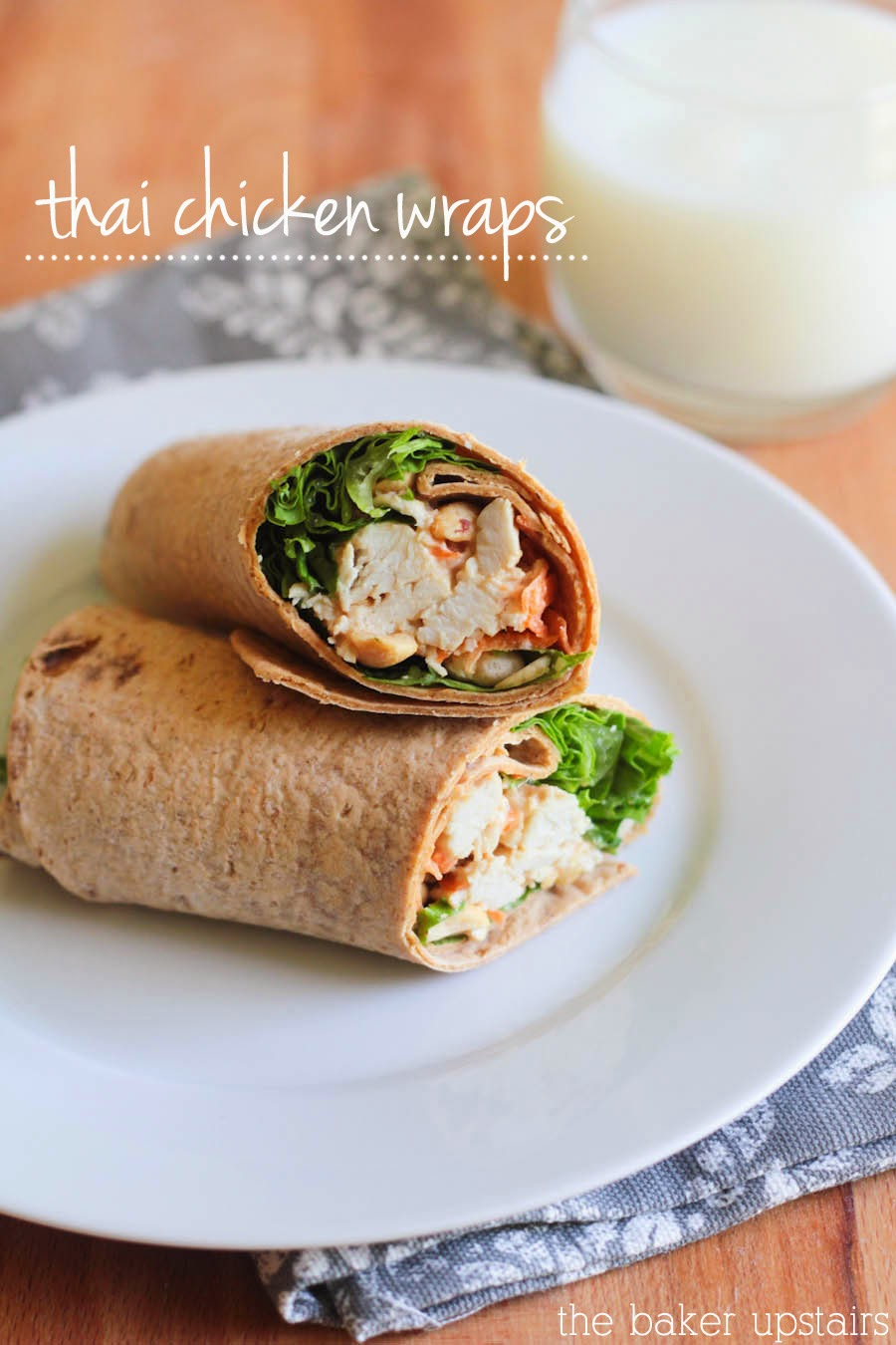 These thai chicken wraps are super quick and easy to make, and so delicious and full of flavor!
