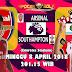 Agen Bola Terpercaya - Prediksi Arsenal vs Southampton 8 April 2018