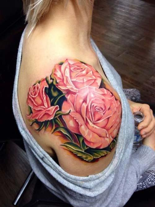 kadın omuz dövmeleri woman shoulder tattoos 23
