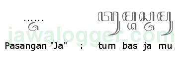 aksara pasangan ja dalam penulisan jawa