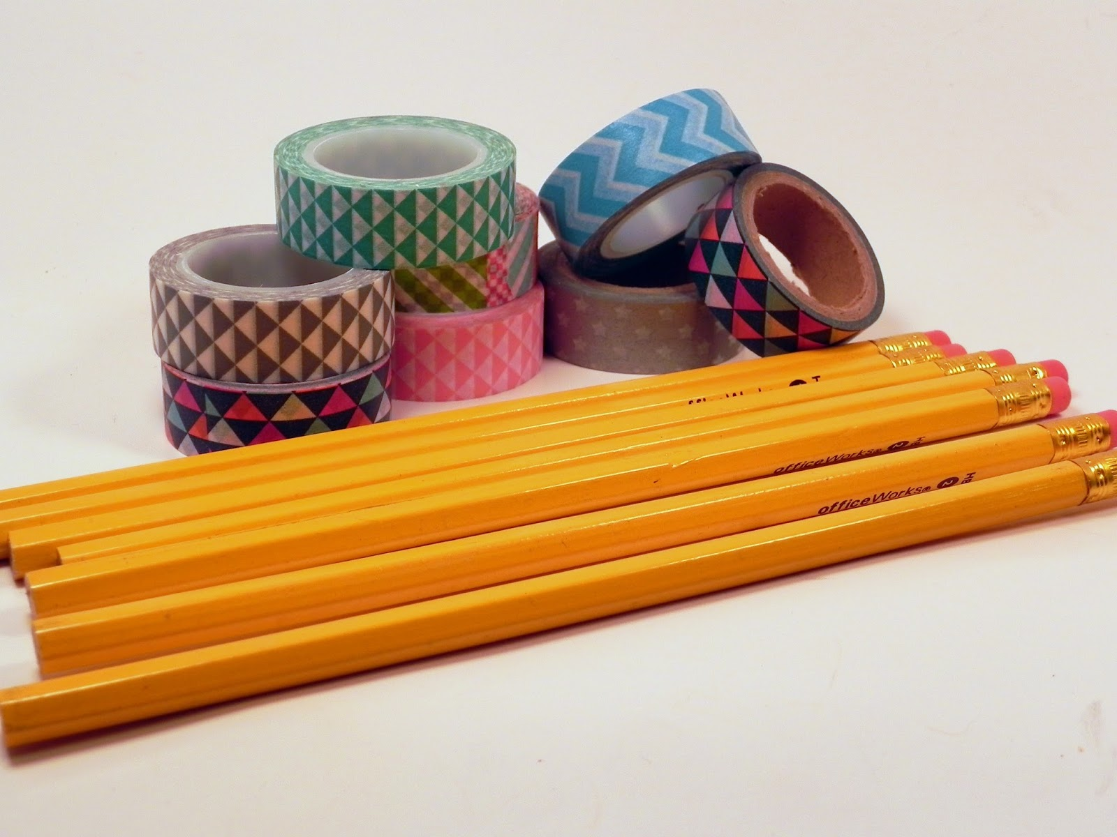 smart n snazzy back to school diy washi tape pencils. Black Bedroom Furniture Sets. Home Design Ideas