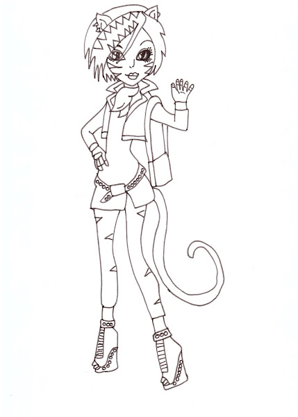 Monster high characters and pets coloring pages coloring for Monster high coloring pages all characters