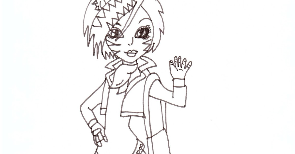 Free Printable Monster High Coloring Pages: Toralei