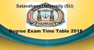 Manabadi SU Degree Time Table 2018 Download, Schools9 SU UG Time Table 2018