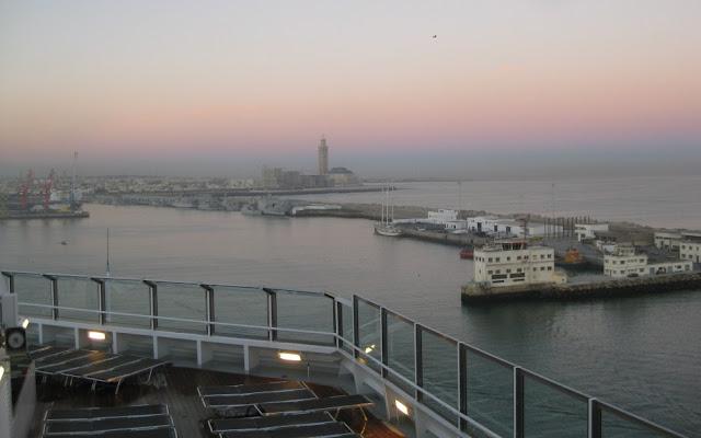 Casablanca mit dem Kreuzfahrtschiff - Einlaufen in den Hafen
