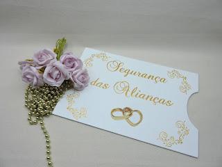 placa segurança das alianças escrita em dourado