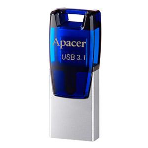 Apacer Memperkenalkan Akses File Cepat dengan Flash Drive Ganda AH179 USB 3.1 Gen 1 OTG